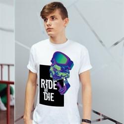 """Футболка """"Ride or die"""", мужская - фото 5385"""