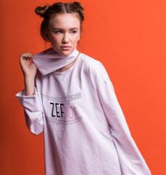 Фуфайка длинный рукав  ZEF SIDE
